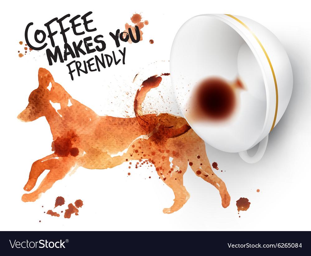 Poster wild coffee dog