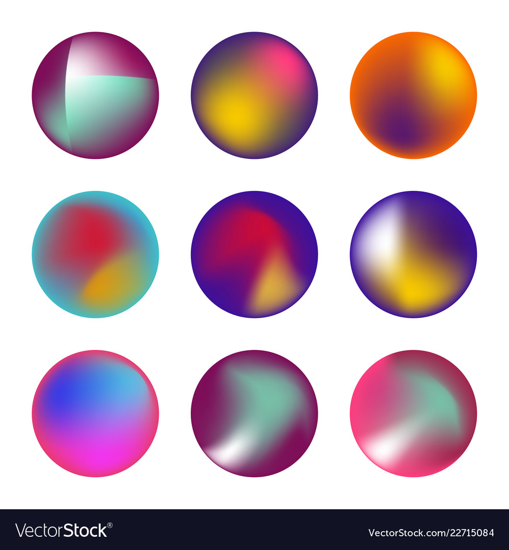 Set of holographic fluid circles