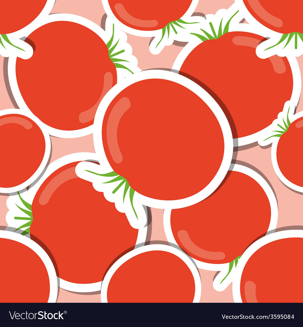 Tomato pattern Seamless texture with ripe red