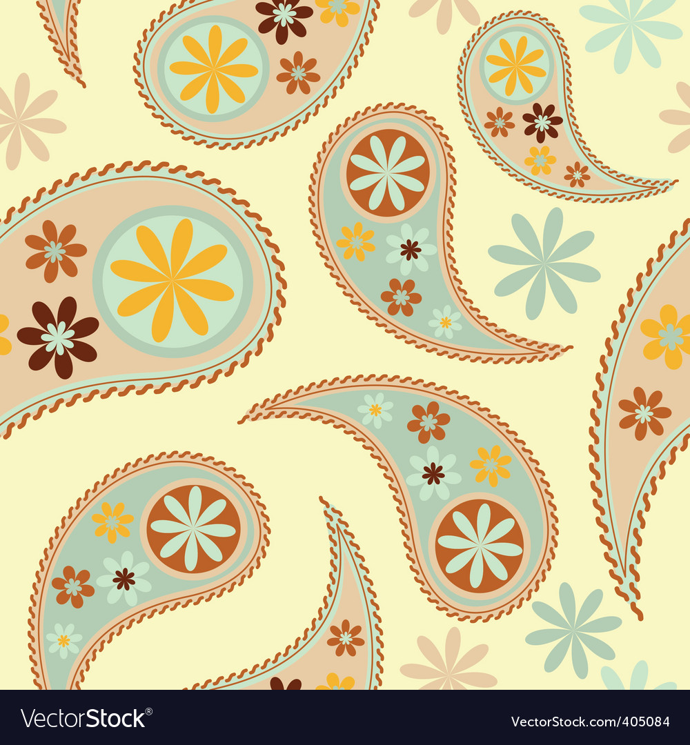 Vector seamless paisley patter