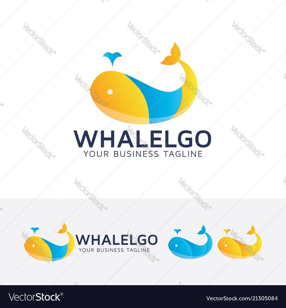 Whale logo design