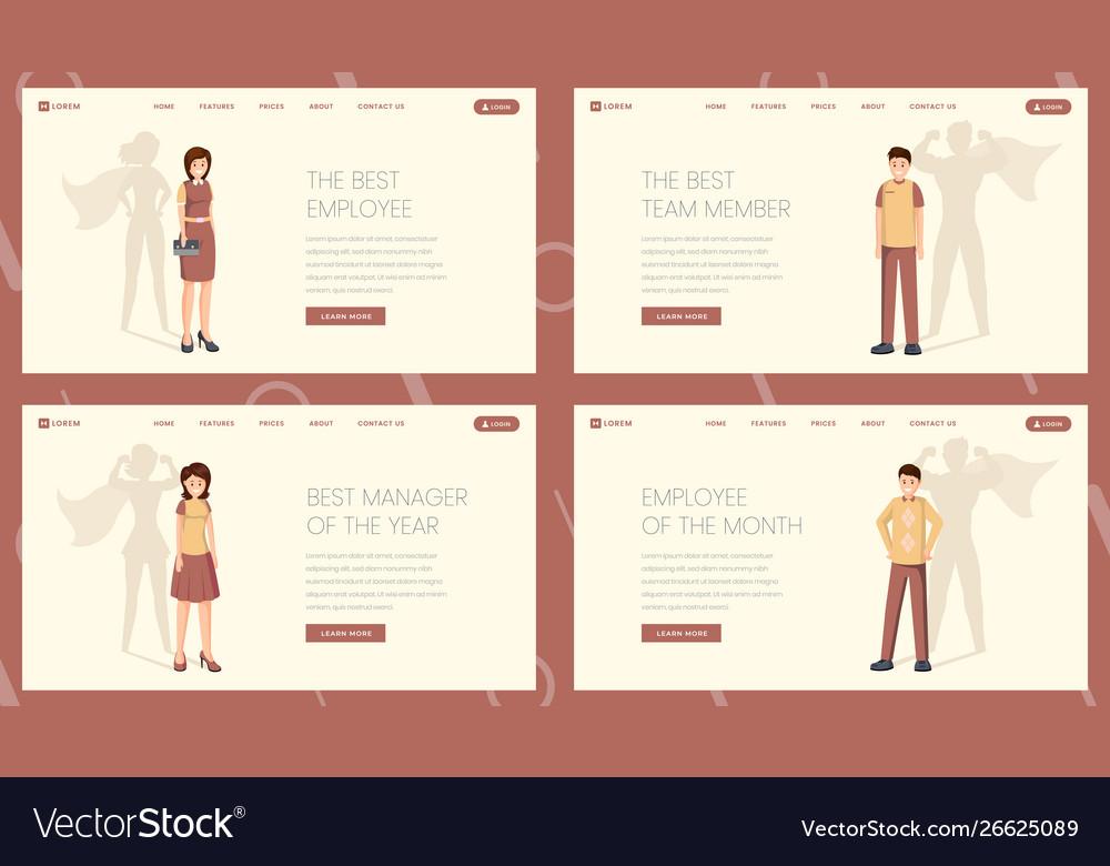 Best worker landing page template set
