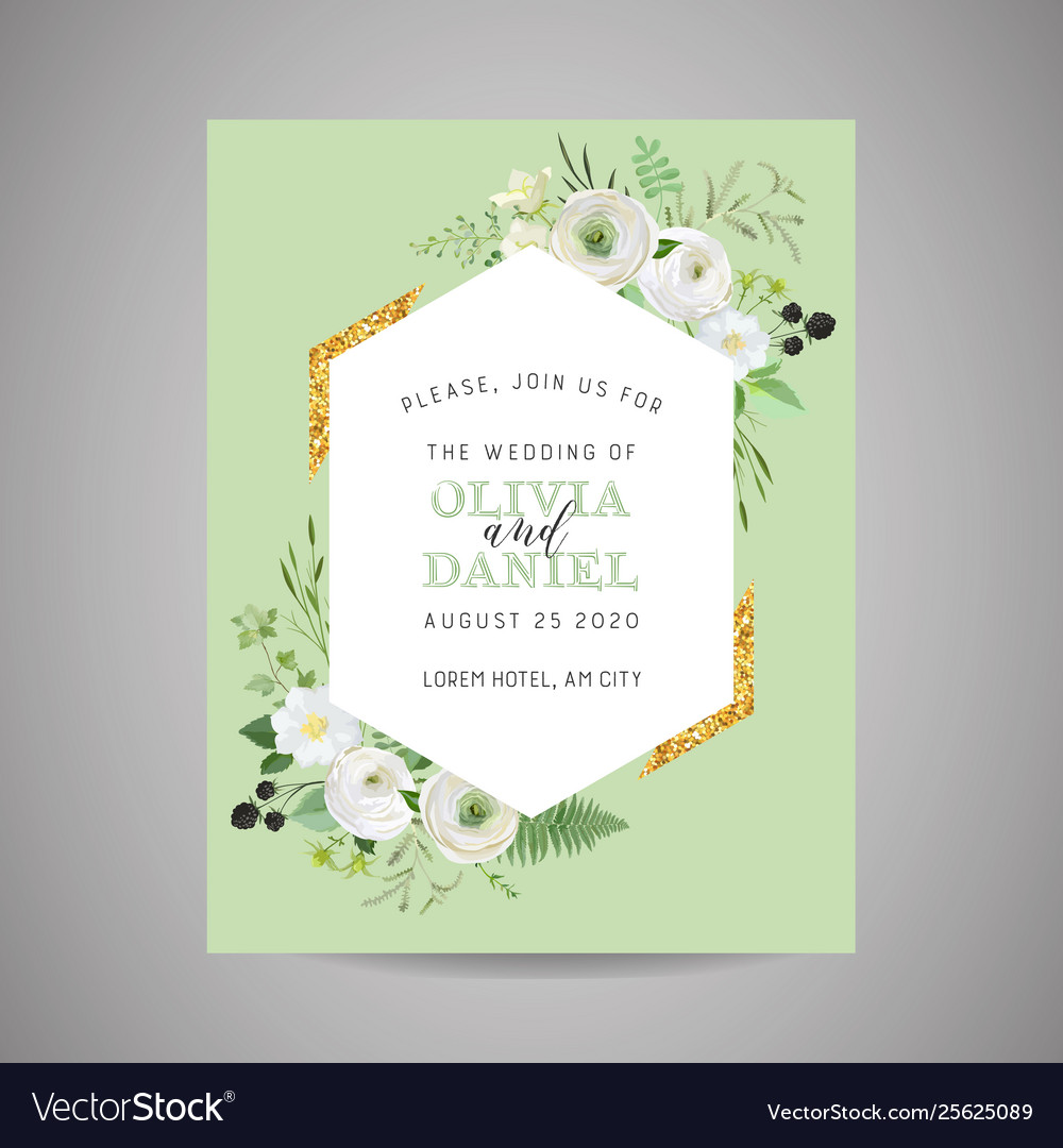 Botanical wedding invitation save date card