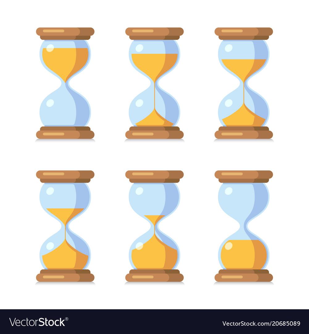 Cartoon hourglass antique sand clock sprite sheet