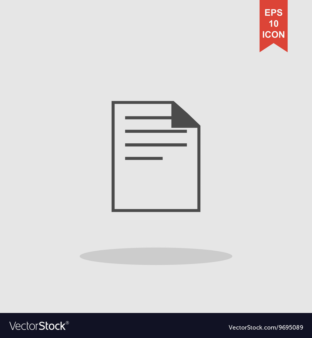 Document icon paper sheet flat design