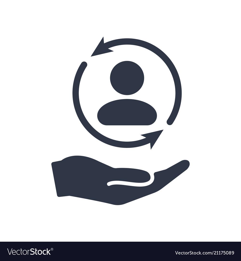 3a7a116e85 Full customer care service - minimal icon Vector Image