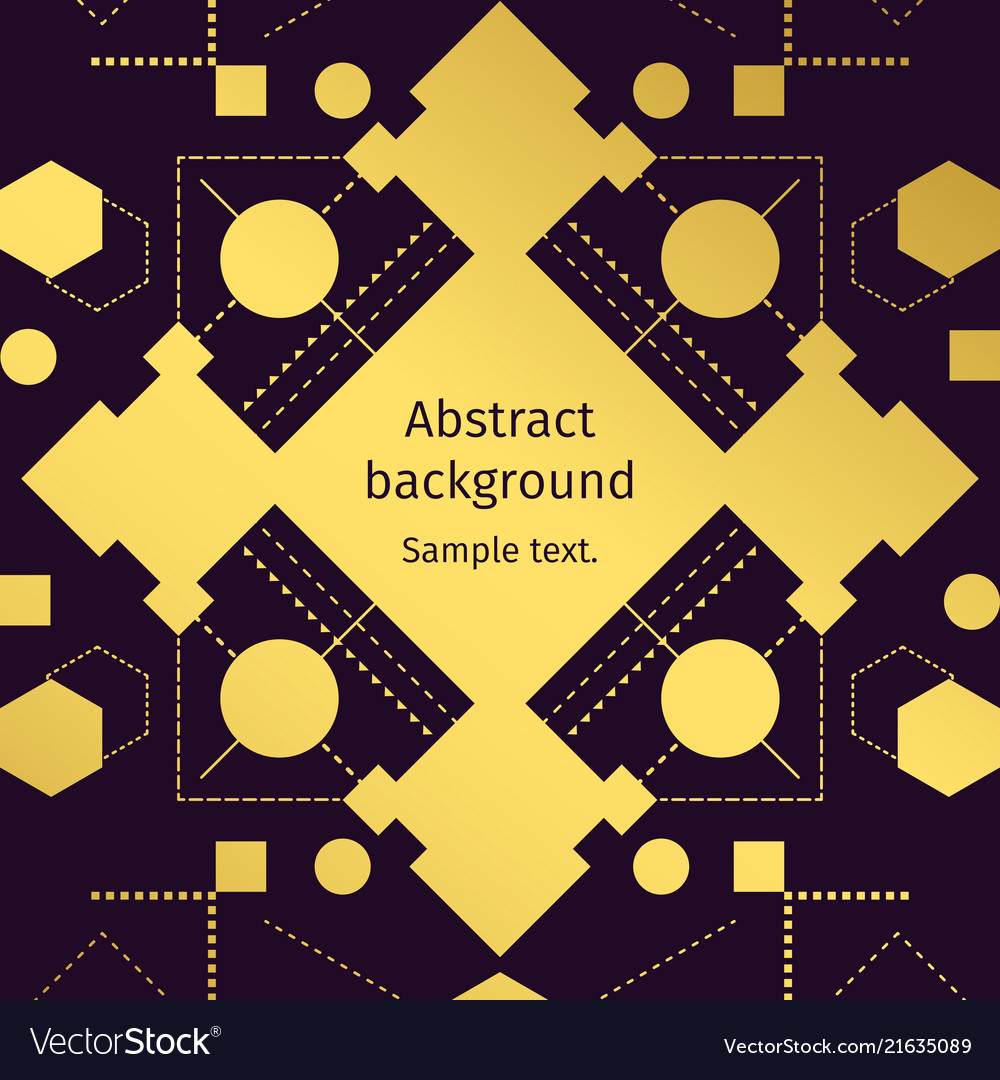 Modern geometric abstract gold background