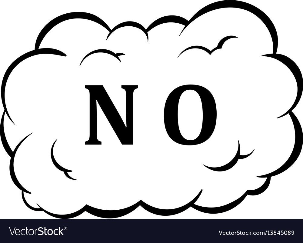 No in cloud icon cartoon