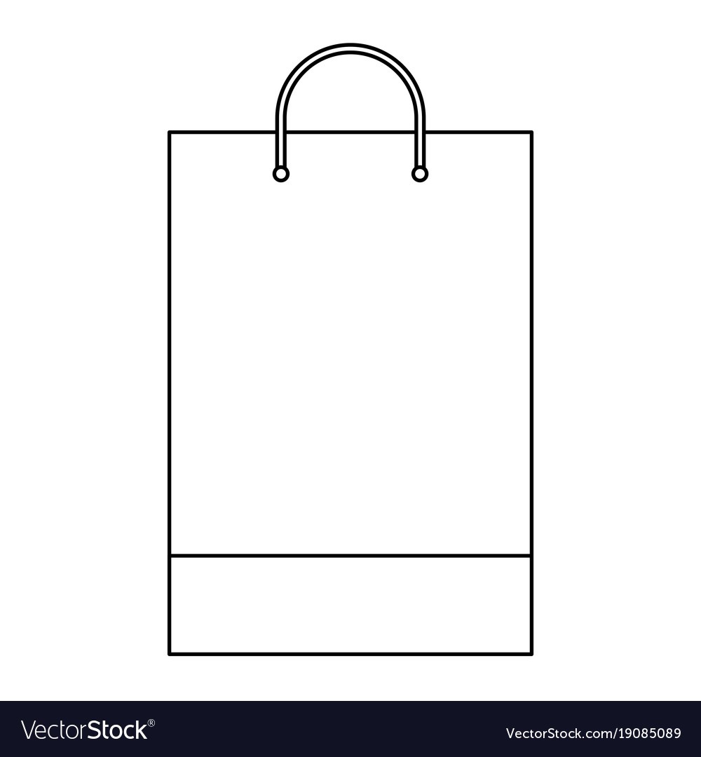 shopping bag template Shopping bag template sample business stationery Vector Image