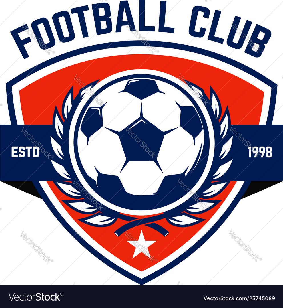 Soccer football emblems design element for logo