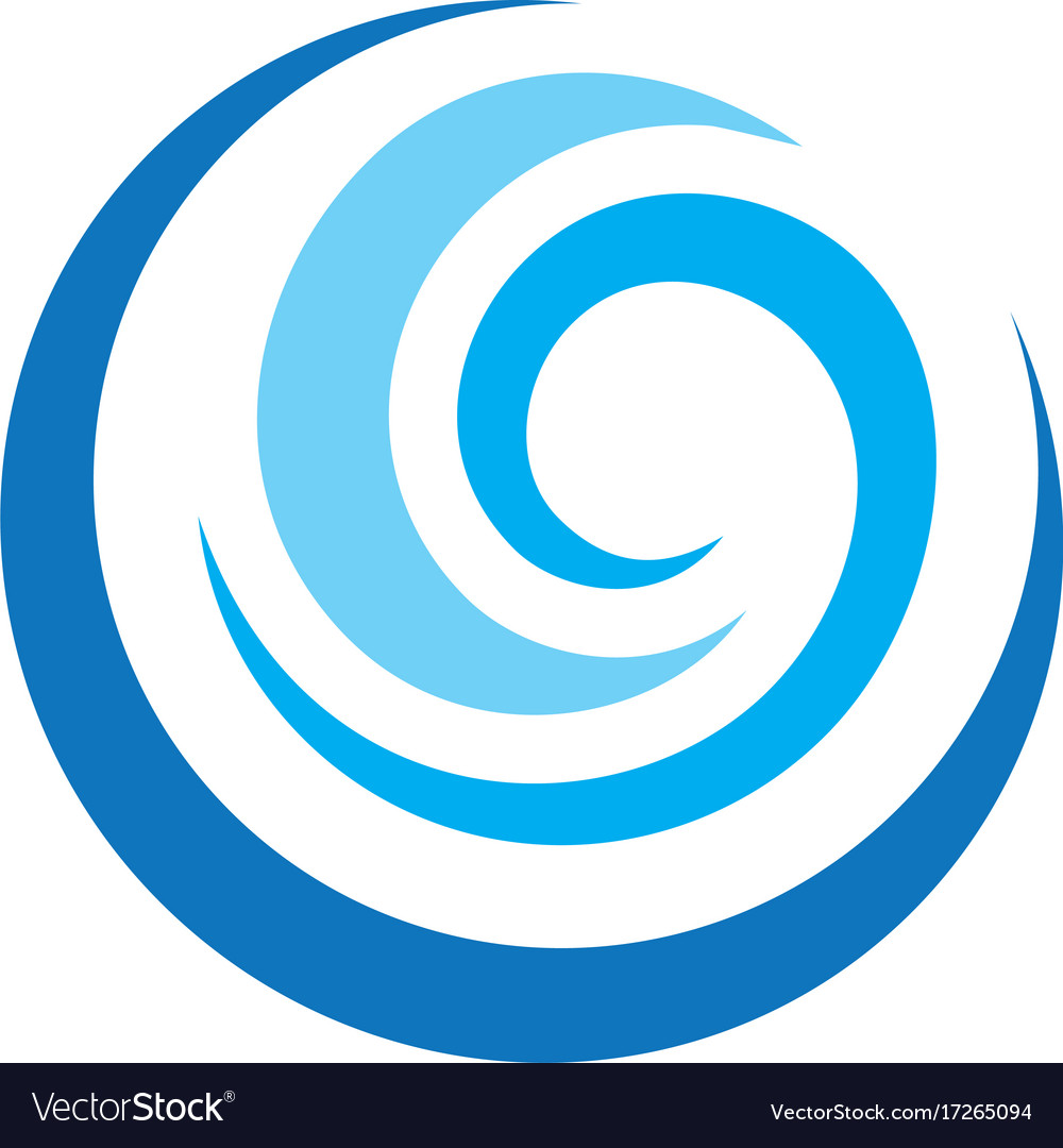 Abstract circle wave logo