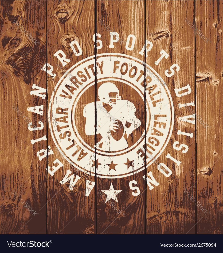 All star football wood board