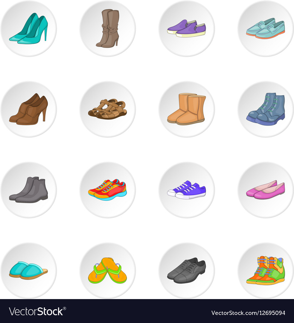 Shoe icons set