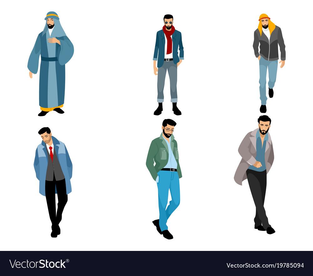 Six modern muslim men
