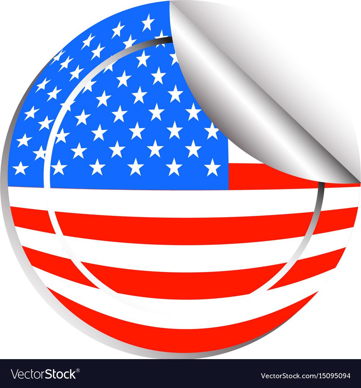 Sticker design for flag of usa