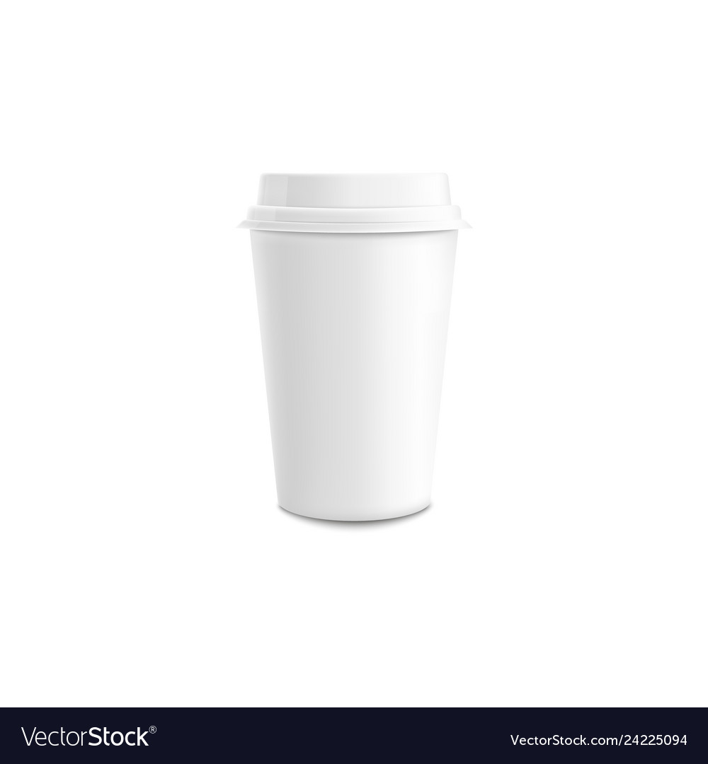 Coffee Cup With Lid Mockup Vector Image