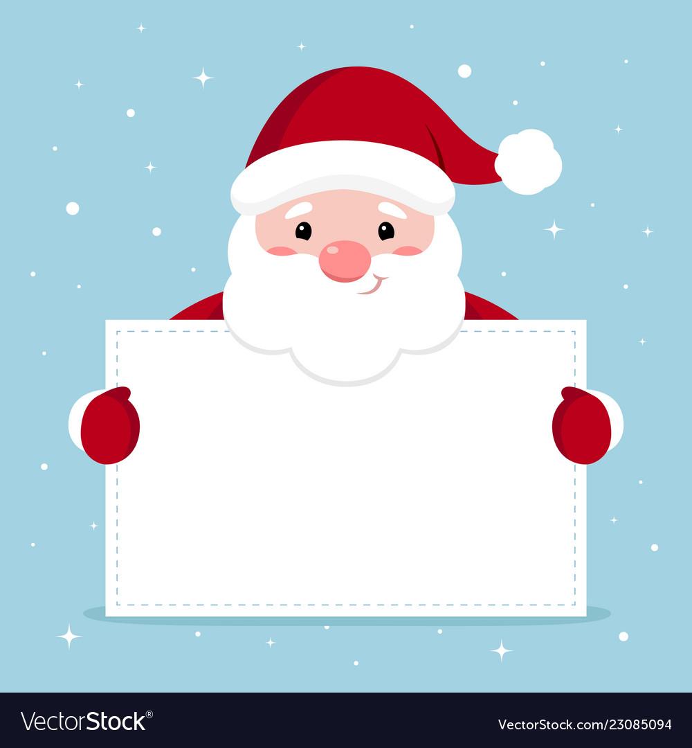 Xmas of funny santa holding