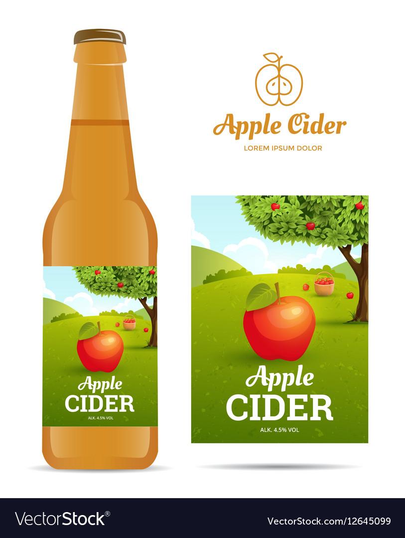 Apple Cider Sticker Vector Image