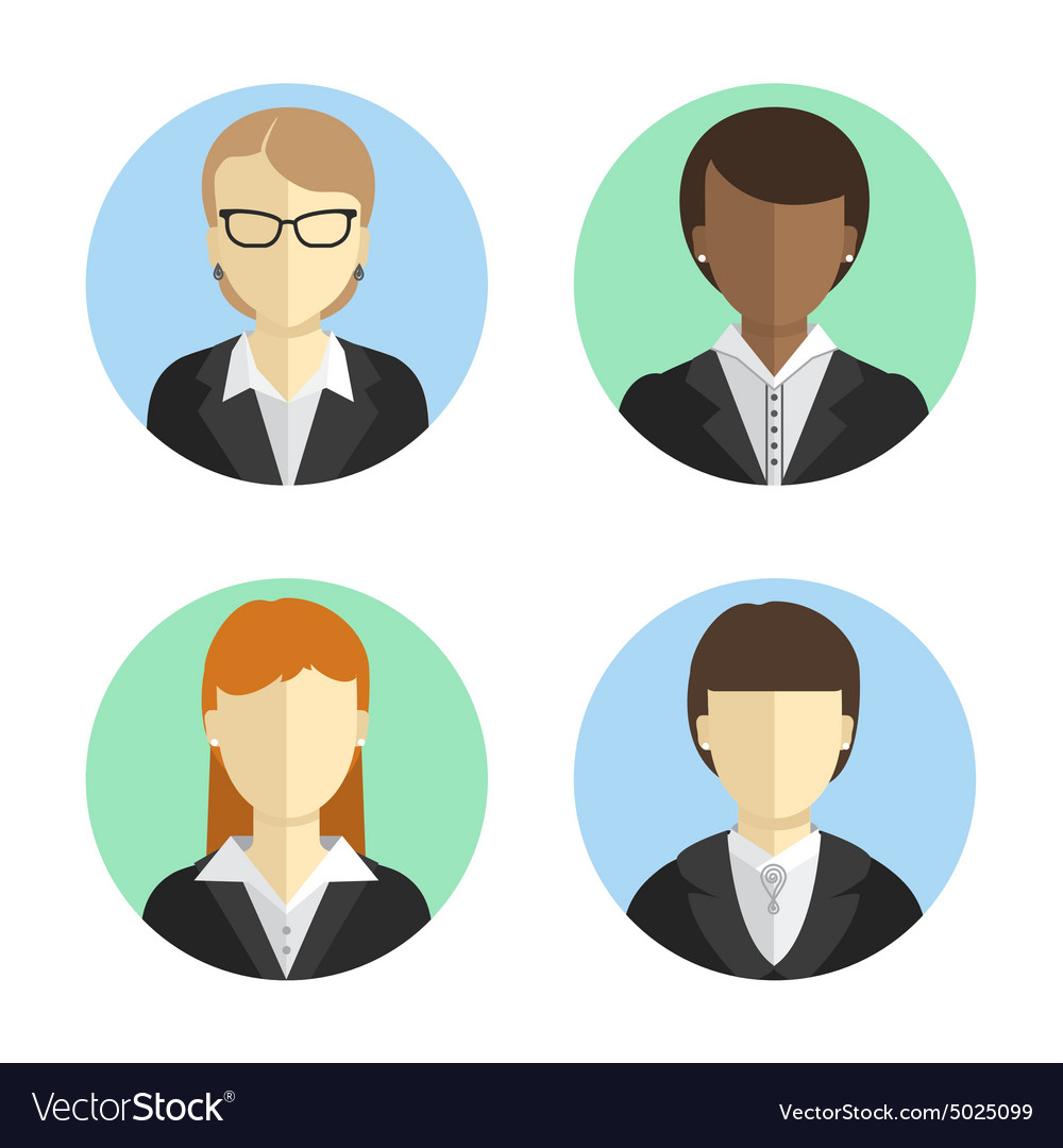 Avatars business women in costumes of different