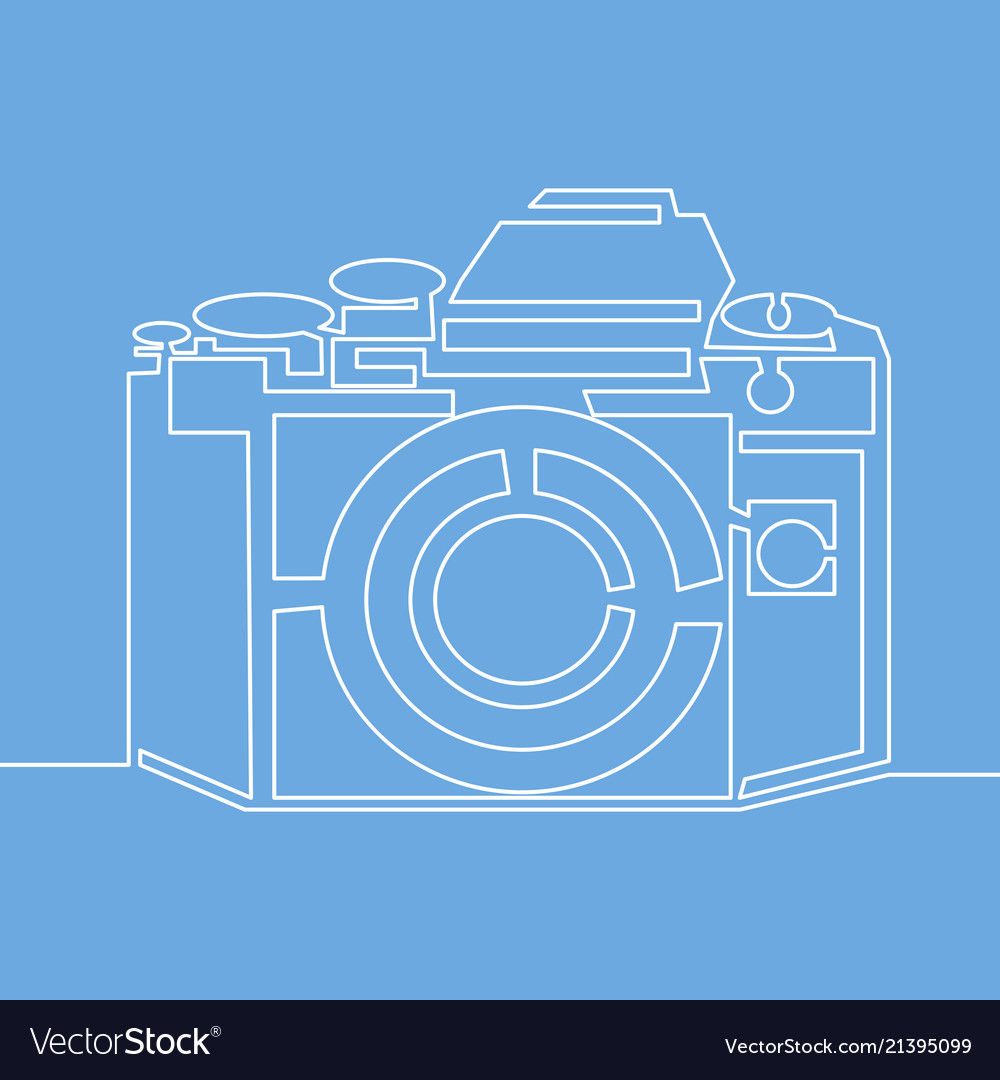 Continuous line drawing photo camera