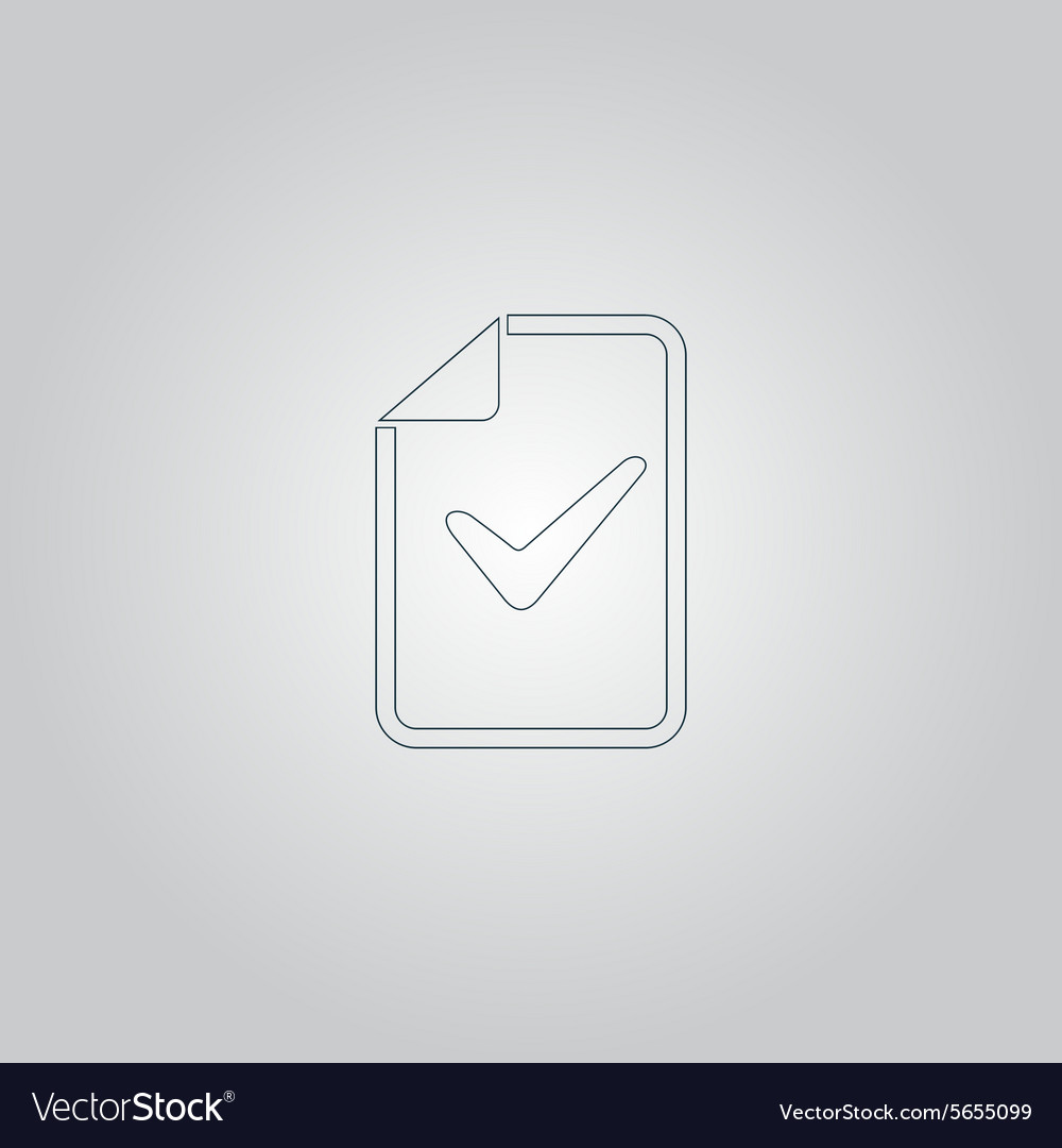 Document with check mark