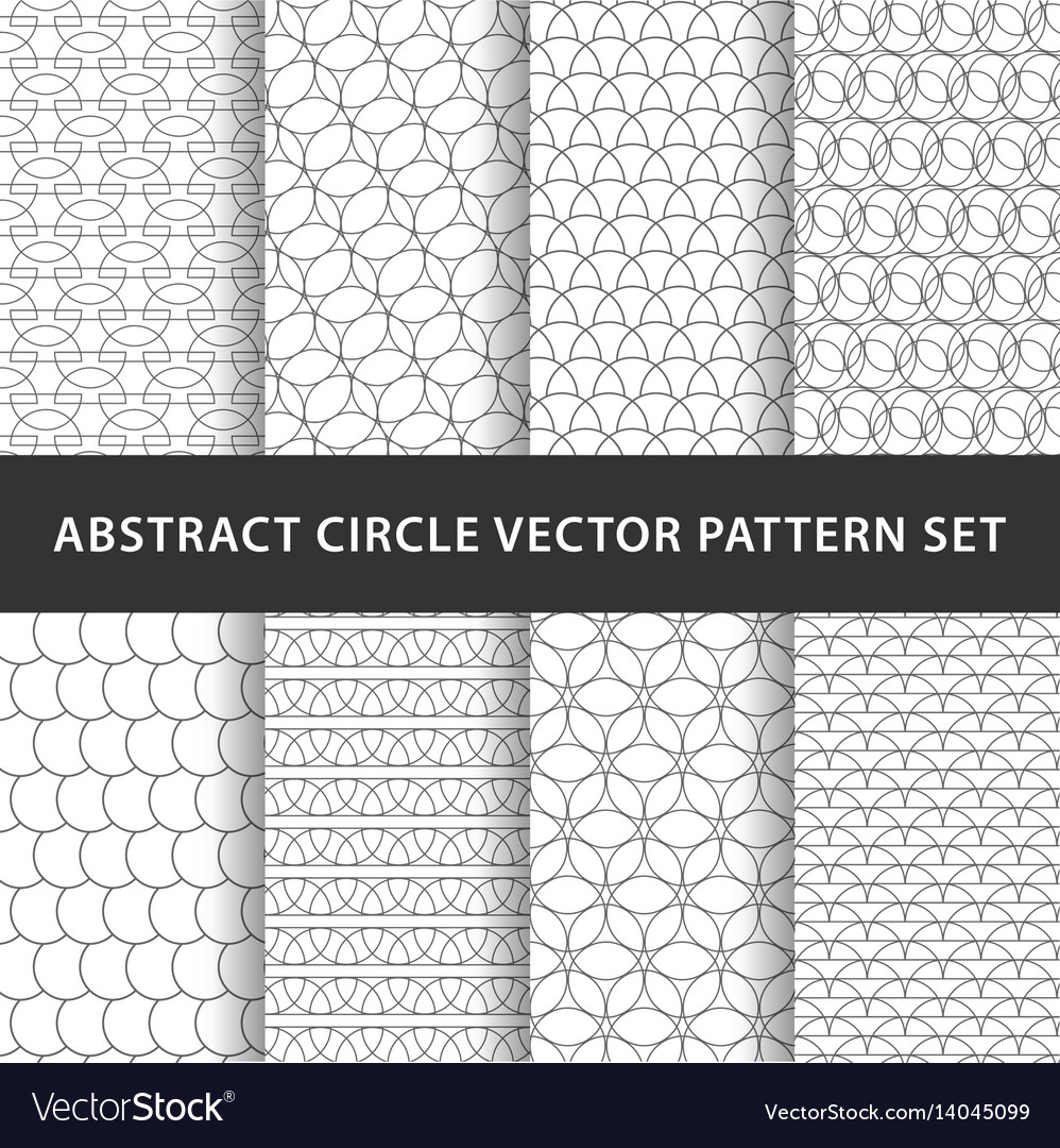 Geometric circle pattern pack vector image