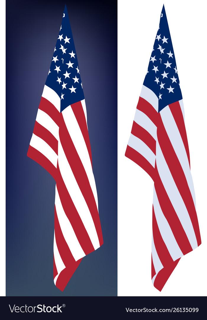 Hanging down flag