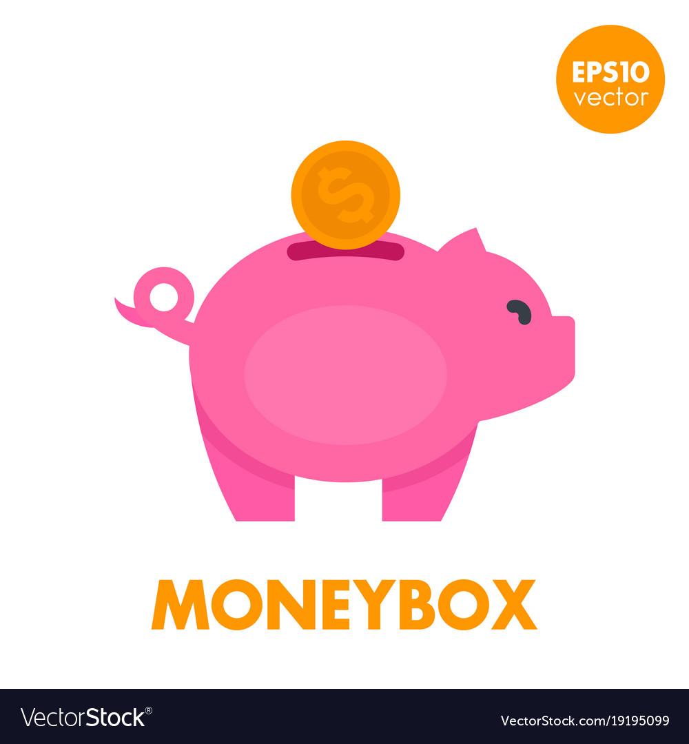 Moneybox icon on white