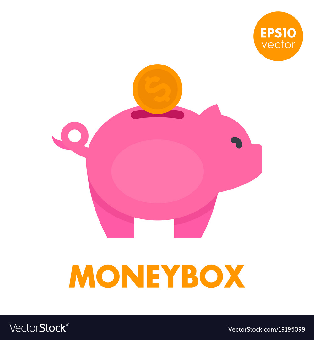 Moneybox icon on white vector image