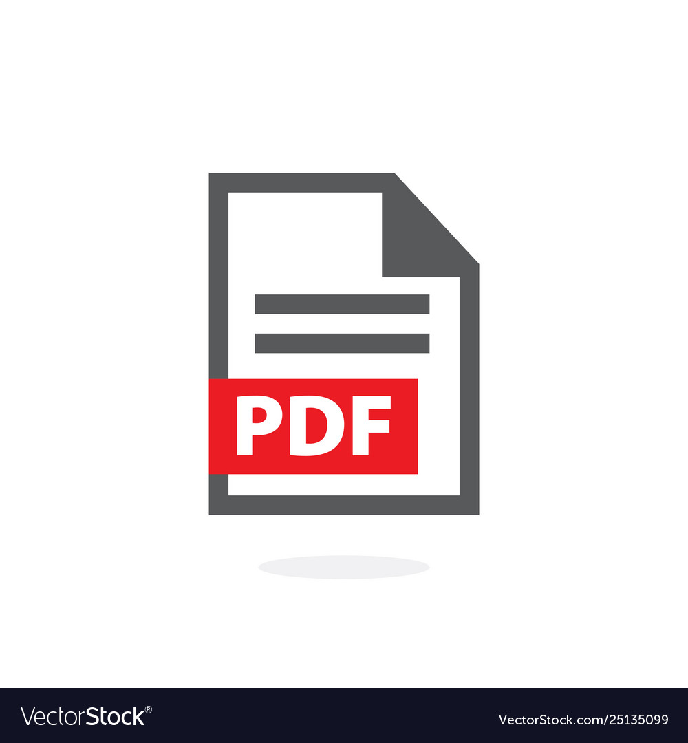 Pdf icon on white background