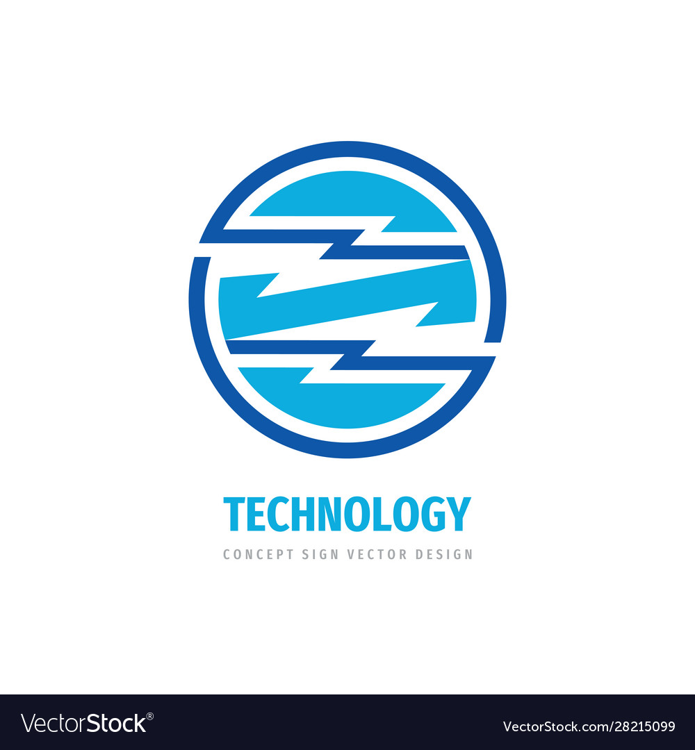 Technology concept logo design electronic network