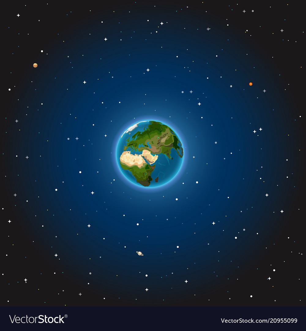 The earth on space
