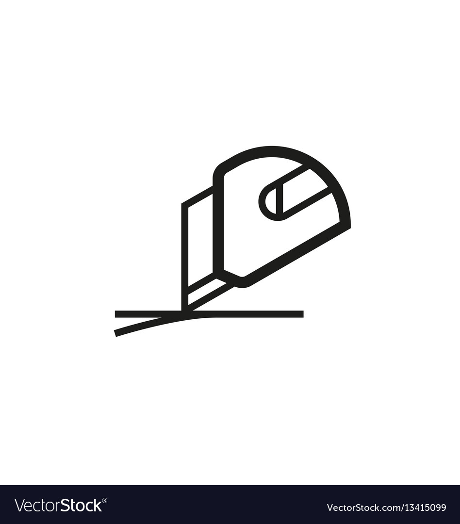 Use box cutter symbol on white background