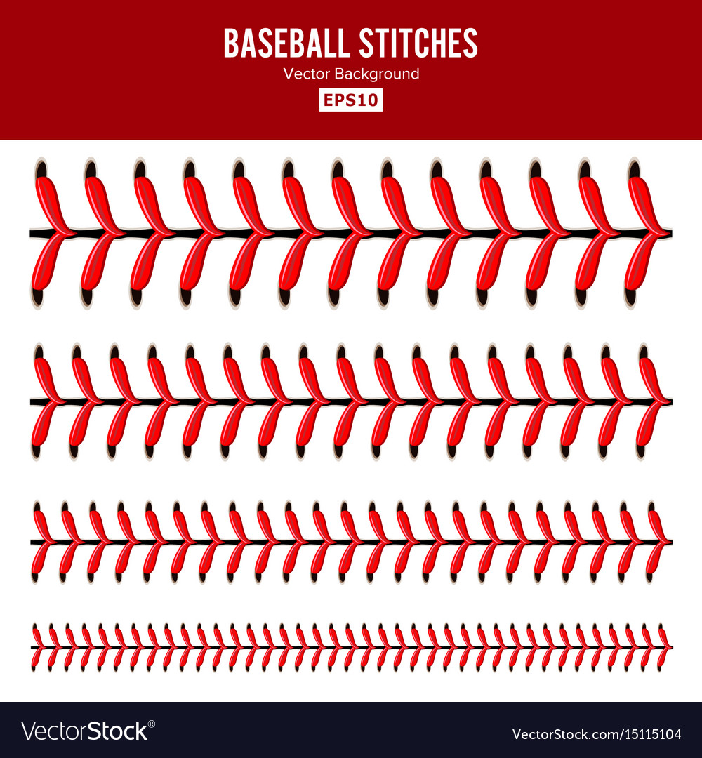 Baseball stitches lace from a