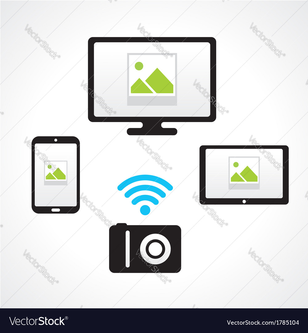 Camera wi-fi connect computer smartphone tablet pc