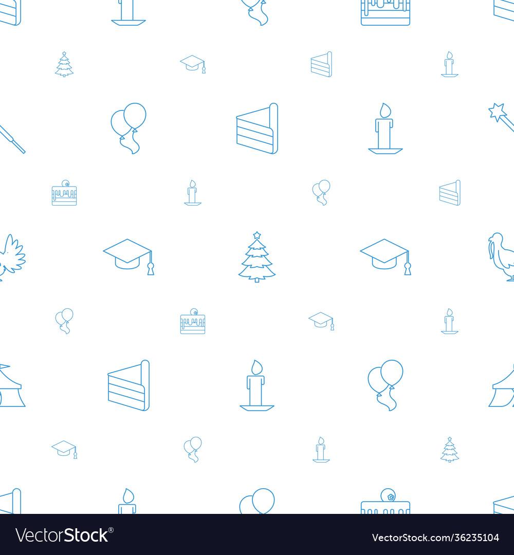 Celebration icons pattern seamless white