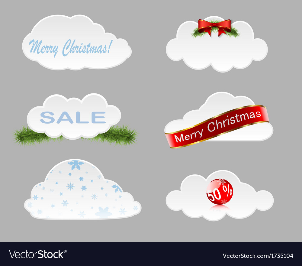 Christmas clouds