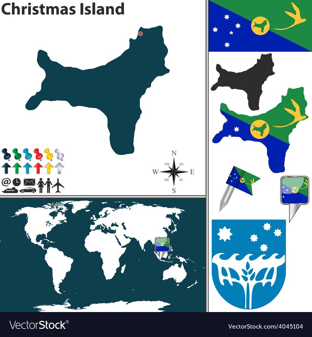 Christmas Island World Map Royalty Free Vector Image