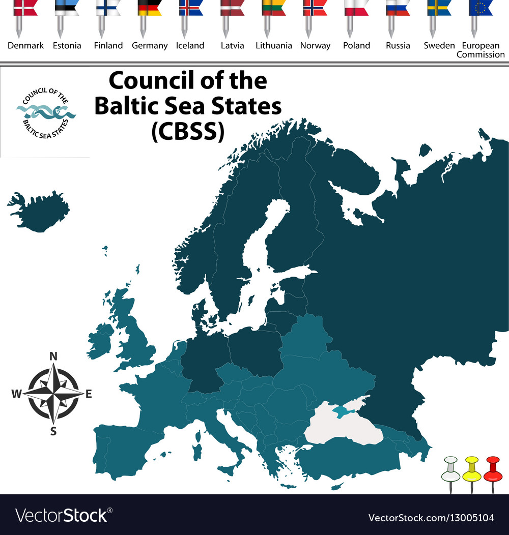 Council of the Baltic Sea States Royalty Free Vector Image