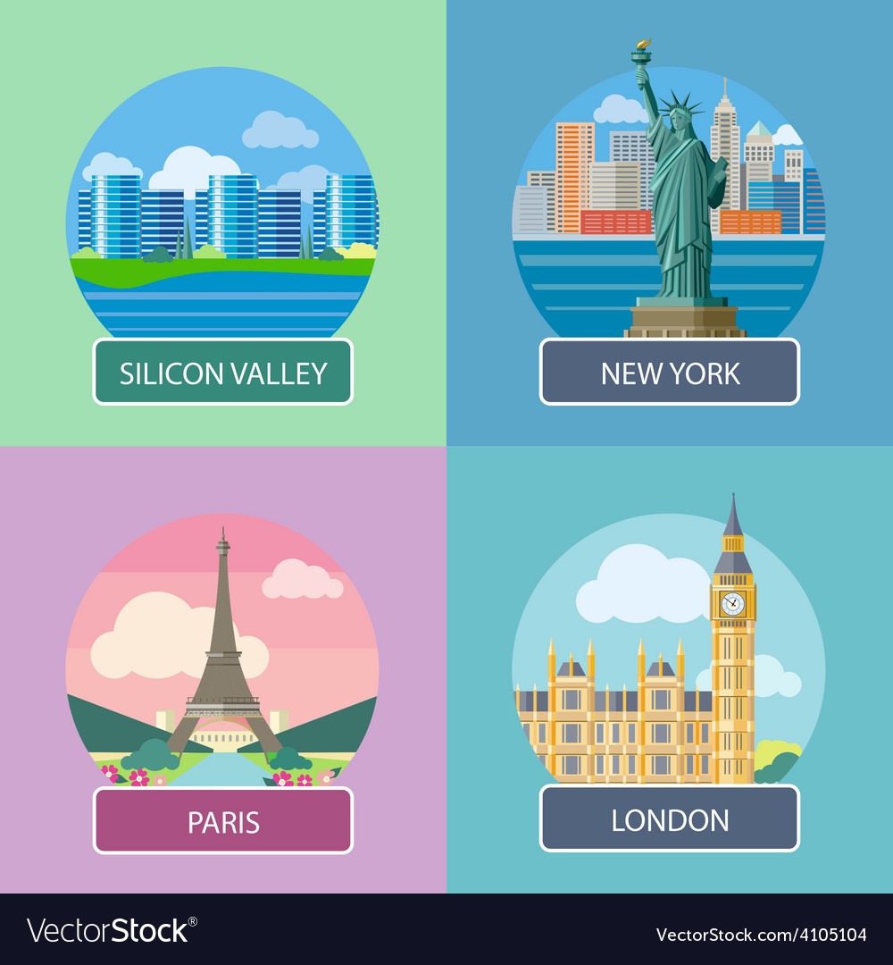 London Silicon Valley New York and Paris