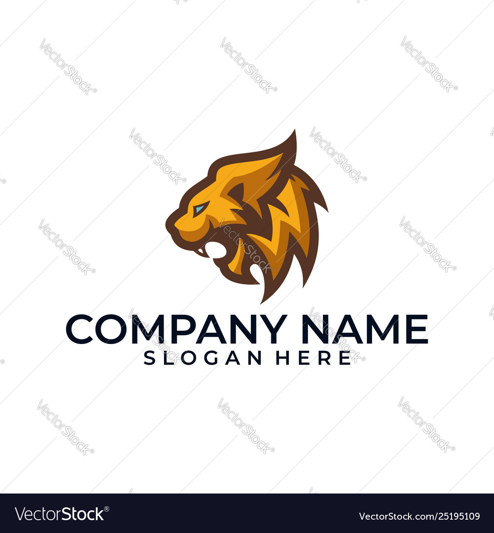 Abstract head lion designs template