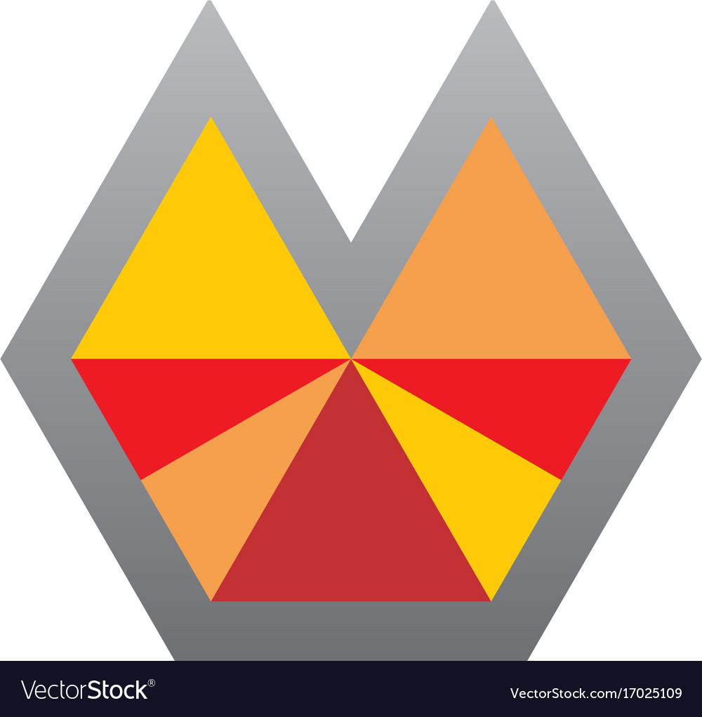 Abstract shape triangle colored logo