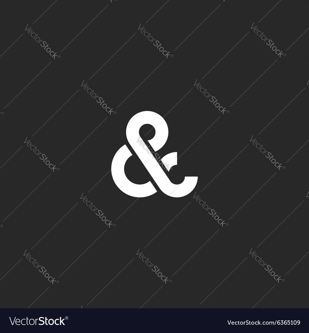 Ampersand logo monogram typography hipster black