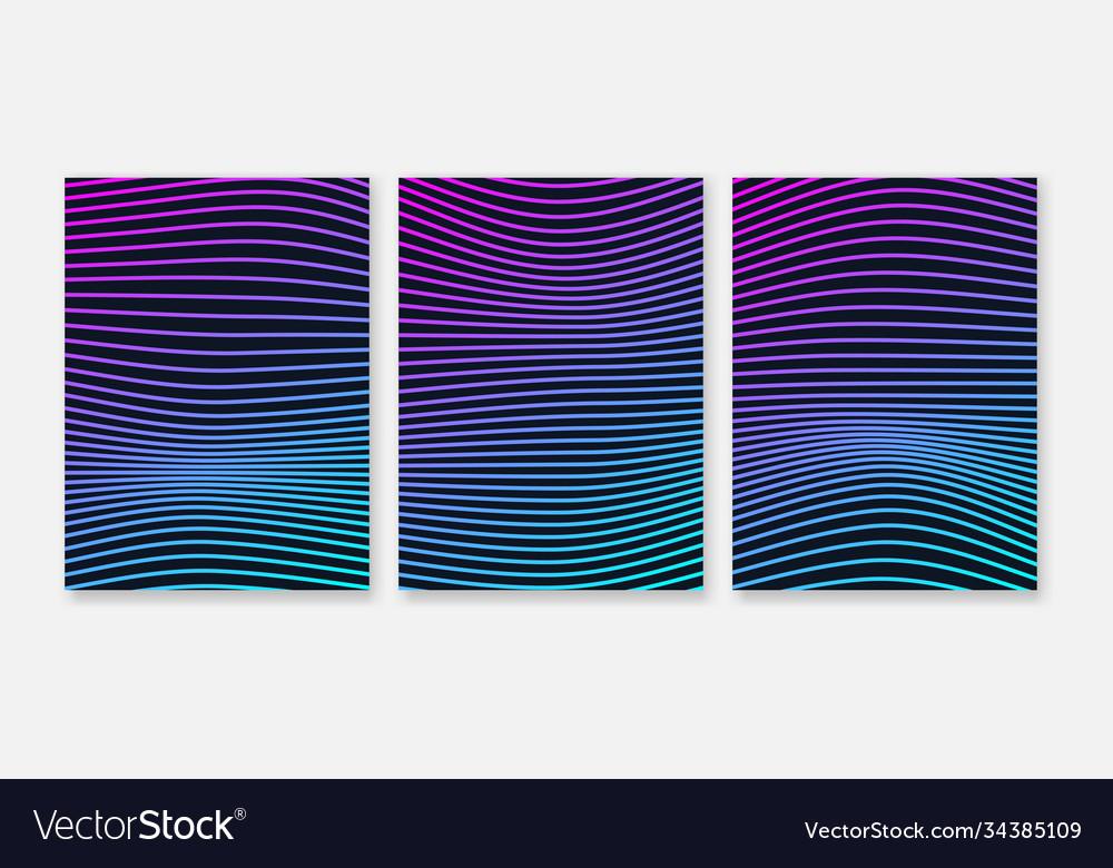 Design elements gradient wave lines for business