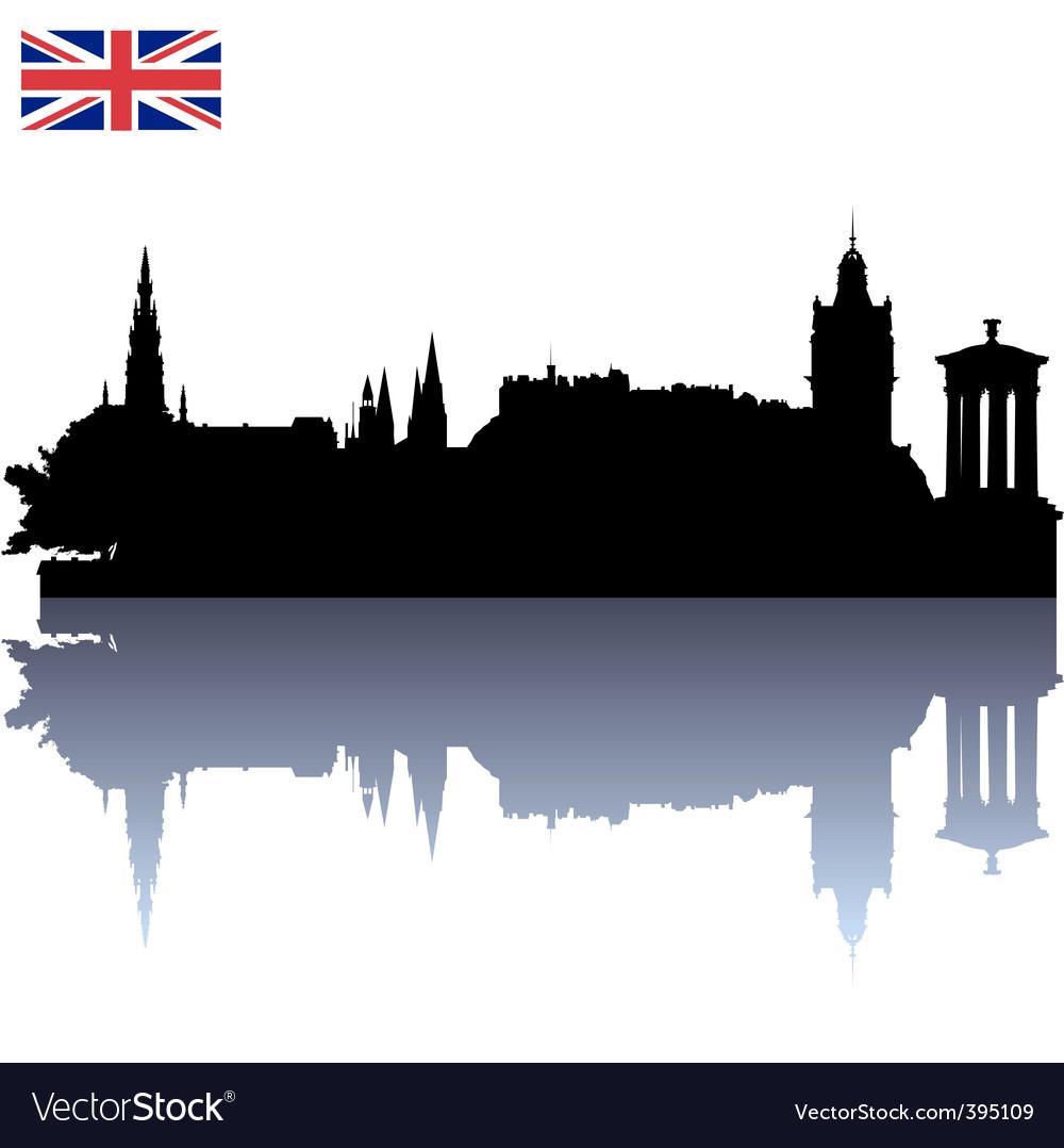 Edinburgh silhouette skyline vector image
