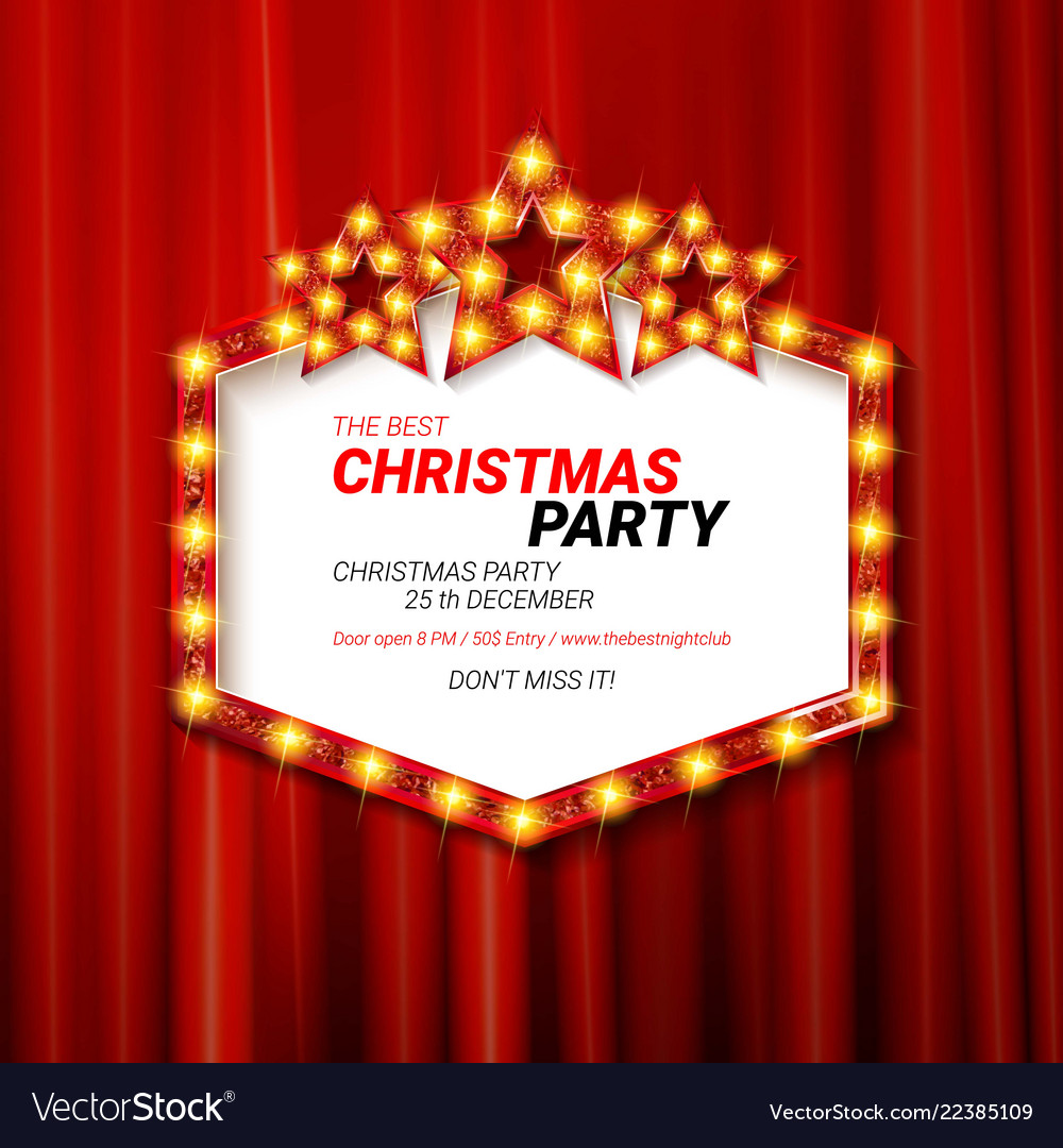 Invitation merry christmas party 2019