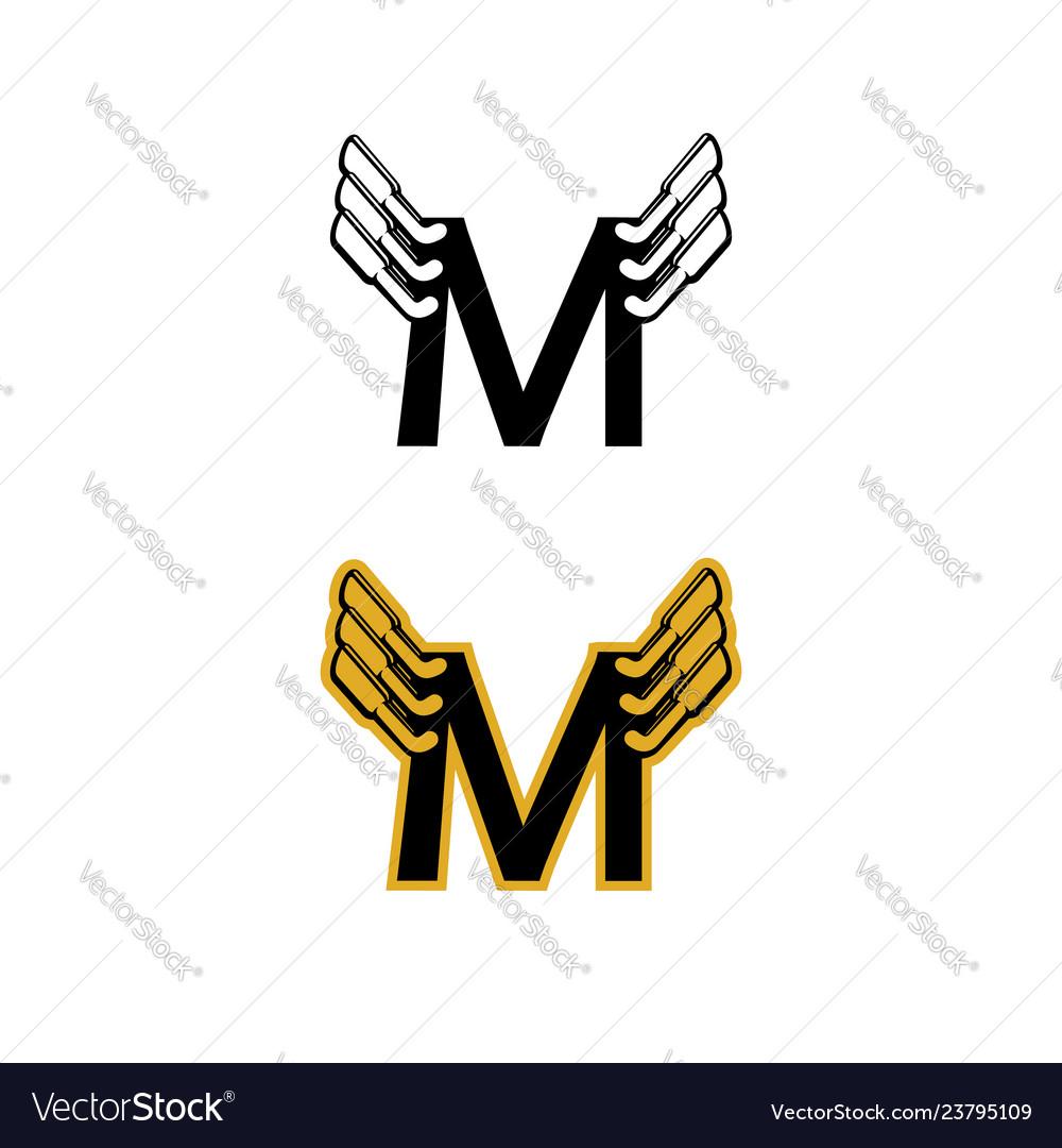 M Exhaust Logo Royalty Free Vector Image Vectorstock