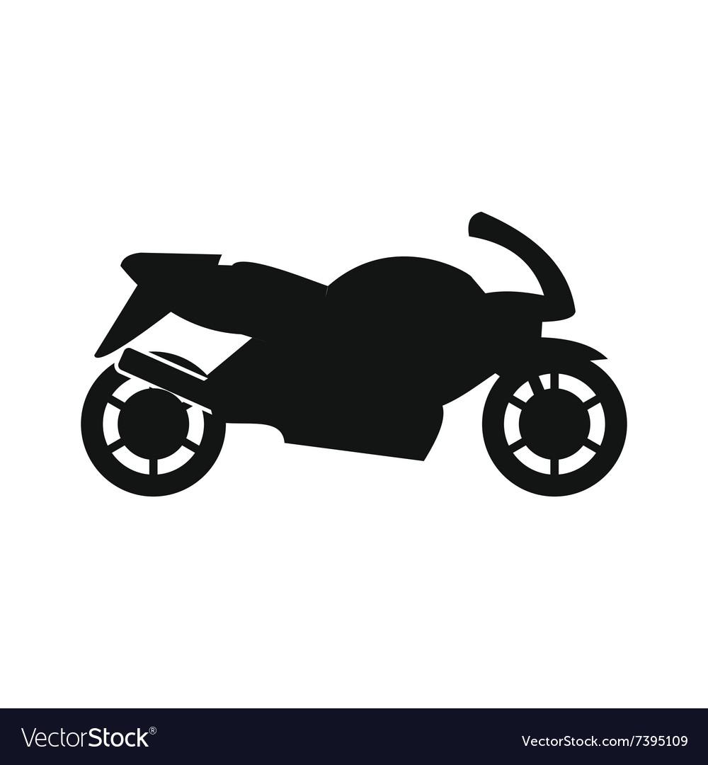 Motorcycle black simple icon Royalty Free Vector Image