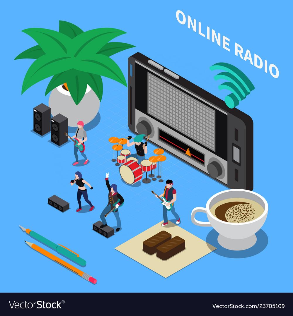 Online radio isometric composition
