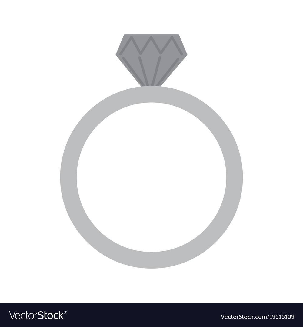 Wedding Ring Icon Diamond Ring Jewelry Royalty Free Vector